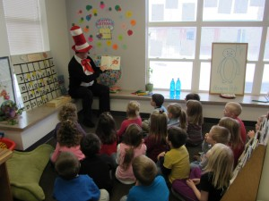Cat in the Hat visited us for Dr. Suess' Birthday!