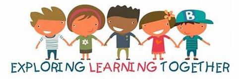 Explore Learning Together - cartoon kids holding hands